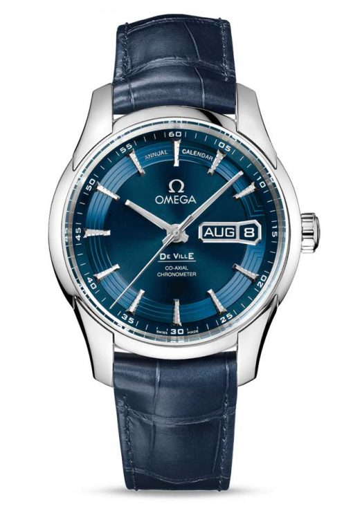 Omega De Vile Hour Vision Co-Axial Master Annual Calendar Stainless Steel Men's Watch, 431.33.41.22.03.001