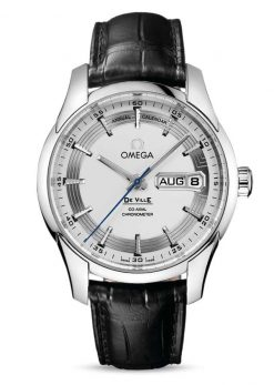 Omega De Vile Hour Vision Co-Axial Master Annual Calendar Stainless Steel Men's Watch 431.33.41.22.02.001