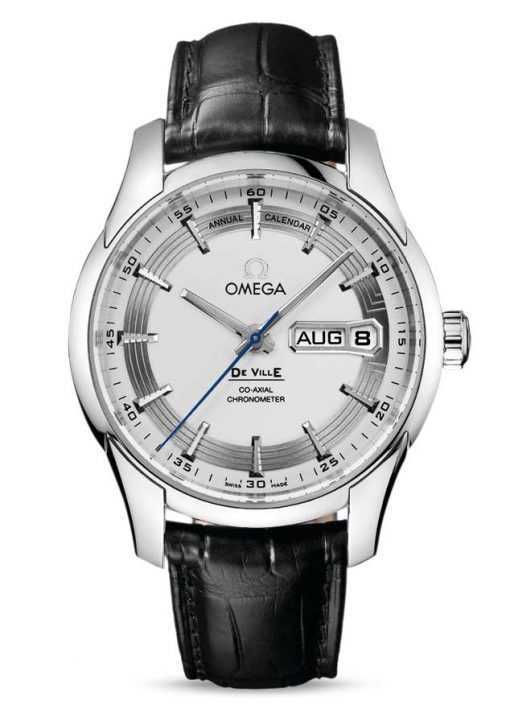 Omega De Vile Hour Vision Co-Axial Master Annual Calendar Stainless Steel Men's Watch, 431.33.41.22.02.001