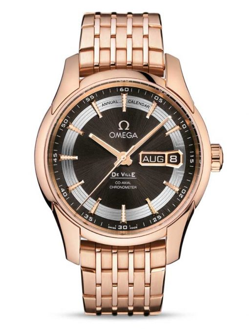 Omega De Vile Hour Vision Co-Axial Master Annual Calendar 18K Red Gold Men's Watch, 431.60.41.22.13.001