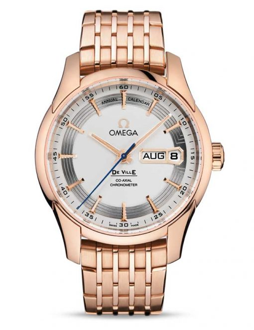 Omega De Vile Hour Vision Co-Axial Master Annual Calendar 18K Red Gold Men's Watch, 431.60.41.22.02.001