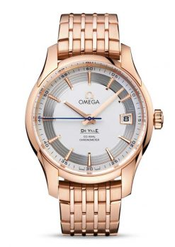 Omega De Vile Hour Vision Co-Axial Master 18K Red Gold Men's Watch preowned.431.60.41.21.02.001