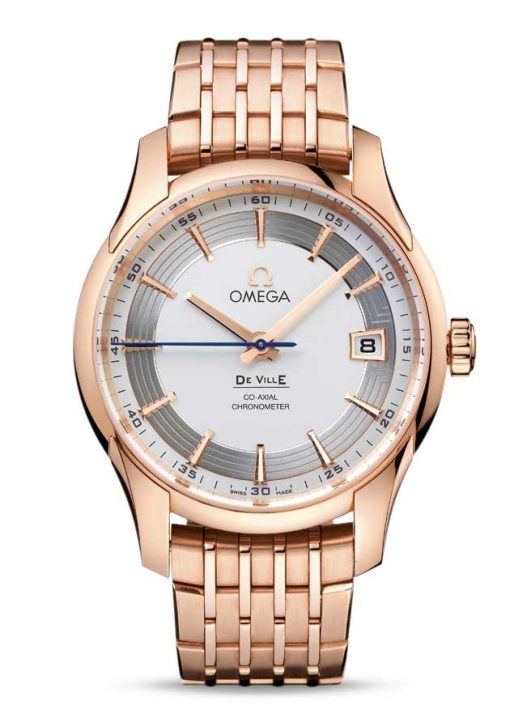 Omega De Vile Hour Vision Co-Axial Master 18K Red Gold Men's Watch, 431.60.41.21.02.001