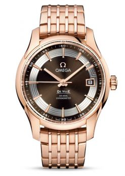 Omega De Vile Hour Vision Co-Axial Master 18K Red Gold Men's Watch 431.60.41.21.13.001