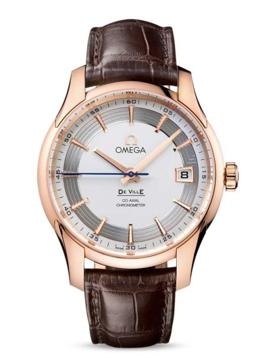 Omega De Vile Hour Vision Co-Axial Master 18K Red Gold Men's Watch, 431.63.41.21.02.001