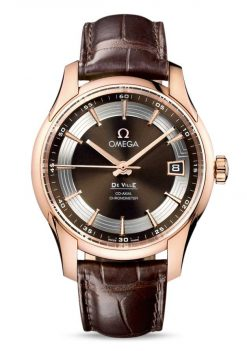 Omega De Vile Hour Vision Co-Axial Master 18K Red Gold Men's Watch 431.63.41.21.13.001