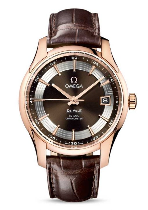 Omega De Vile Hour Vision Co-Axial Master 18K Red Gold Men's Watch, 431.63.41.21.13.001