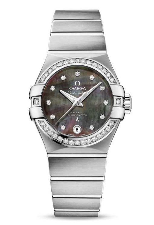 Omega Constellation Tahiti Co-Axial Stainless Steel & Diamonds Ladies Watch, 123.15.27.20.57.003