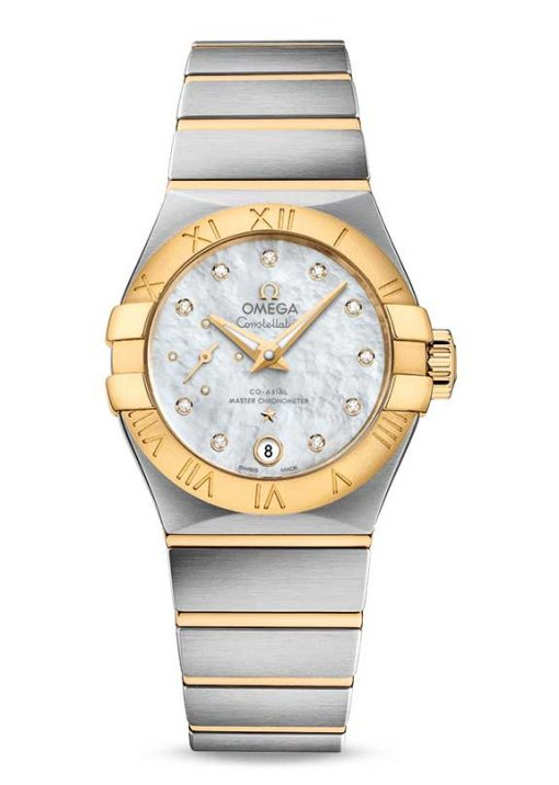 Omega Constellation Petite Seconde Co-Axial Master Stainless Steel & 18K Yellow Gold Ladies Watch, 127.20.27.20.55.002