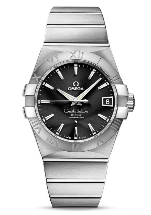 Omega Constellation Co-Axial Stainless Steel Unisex Watch, 123.10.38.21.01.001