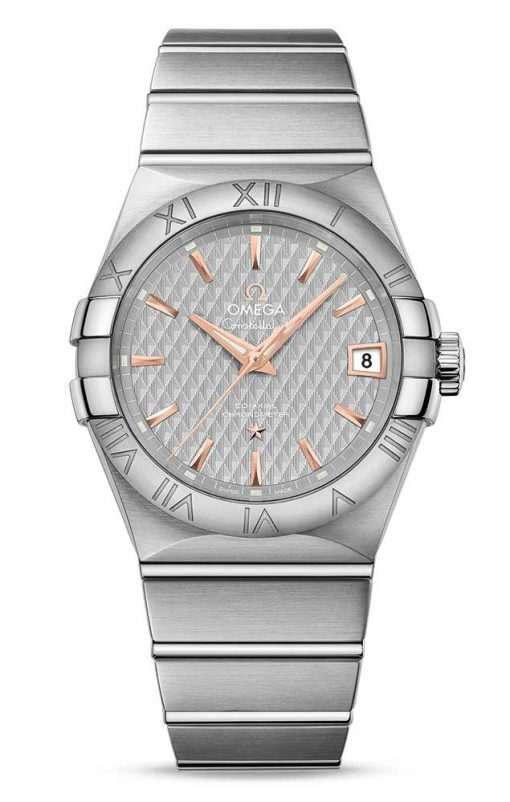 Omega Constellation Co-Axial Stainless Steel Men's Watch, 123.10.38.21.06.002