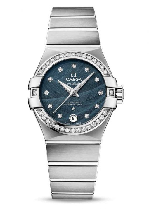 Omega Constellation Co-Axial Stainless Steel & Diamonds Ladies Watch, 123.15.27.20.53.001