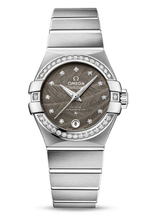 Omega Constellation Co-Axial Stainless Steel & Diamonds Ladies Watch, 123.15.27.20.56.001