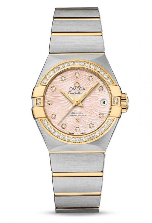 Omega Constellation Co-Axial Stainless Steel & 18K Yellow Gold & Diamonds Ladies Watch, 123.25.27.20.57.005