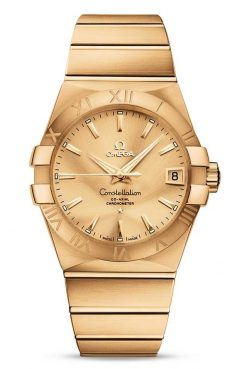 Omega Constellation Co-Axial 18K Yellow Gold Unisex Watch 123.50.38.21.08.001