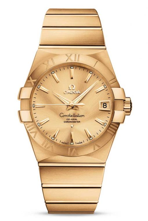 Omega Constellation Co-Axial 18K Yellow Gold Unisex Watch, 123.50.38.21.08.001