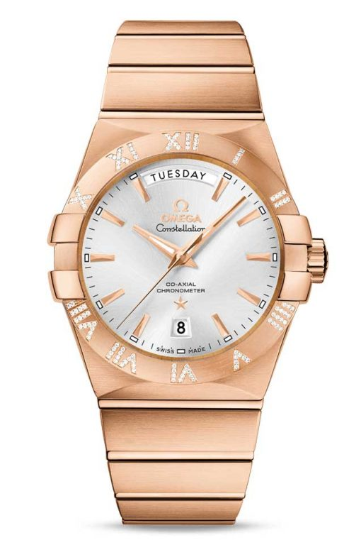 Omega Constellation Co-Axial Day-Date 18K Red Gold & Diamonds Men's Watch, 123.55.38.22.02.001