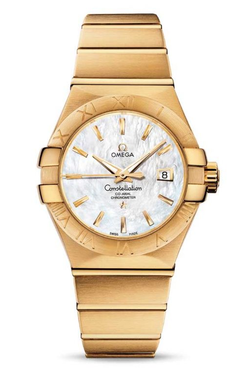 Omega Constellation Co-Axial 18K Yellow Gold Ladies Watch, 123.50.31.20.05.002