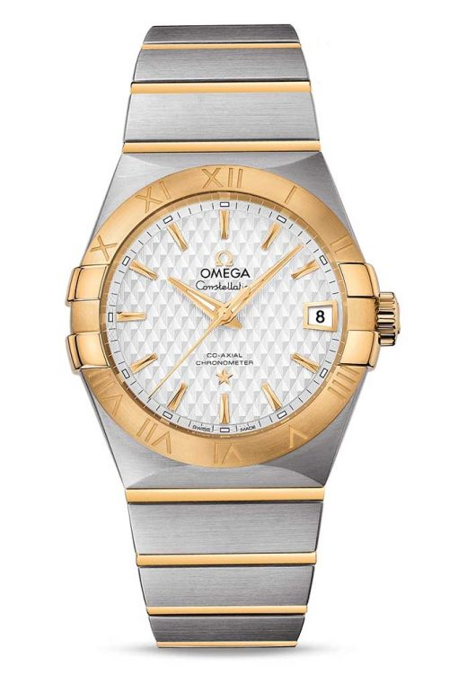 Omega Constellation Co-Axial 18K Yellow Gold & Stainless Steel Men's Watch, 123.20.38.21.02.009