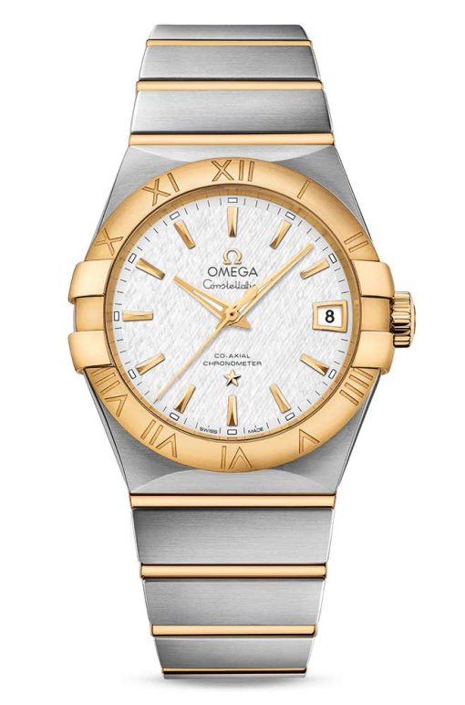 Omega Constellation Co-Axial 18K Yellow Gold & Stainless Steel Men's Watch, 123.20.38.21.02.006
