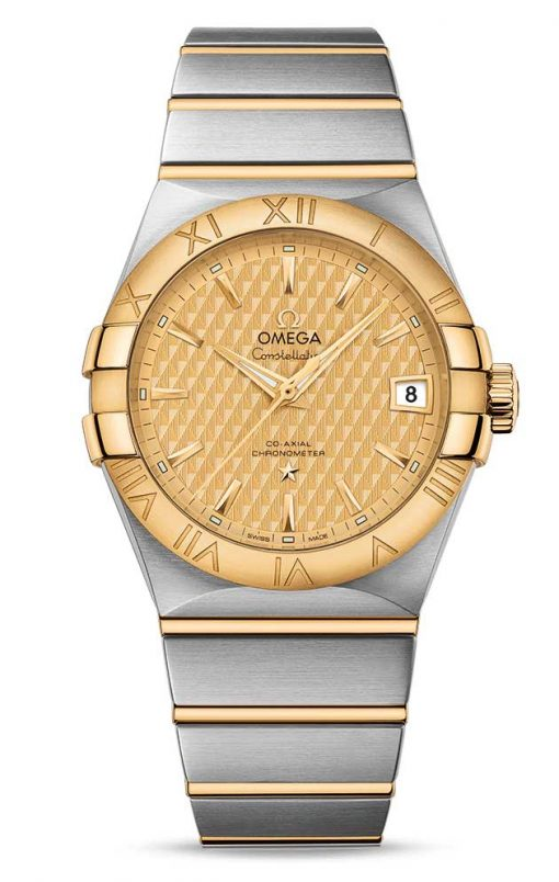 Omega Constellation Co-Axial 18K Yellow Gold & Stainless Steel Men's Watch, 123.20.38.21.08.002