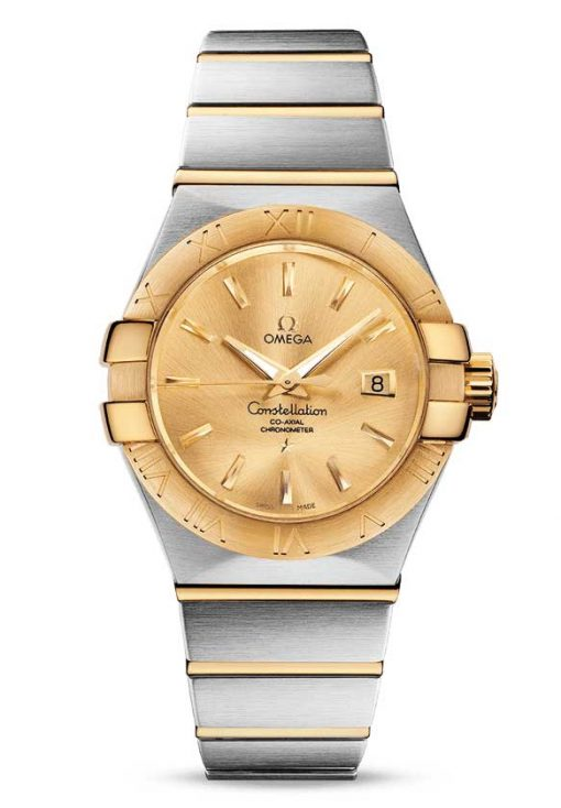 Omega Constellation Co-Axial 18K Yellow Gold & Stainless Steel Ladies Watch, 123.20.31.20.08.001