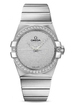 Omega Constellation Co-Axial 18K White Gold & Diamonds Unisex Watch 123.55.38.20.99.001