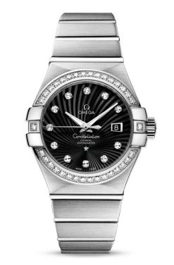 Omega Constellation Co-Axial 18K White Gold & Diamonds Ladies Watch 123.55.31.20.51.001