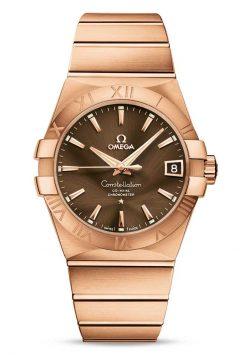 Omega Constellation Co-Axial 18K Red Gold Unisex Watch 123.50.38.21.13.001