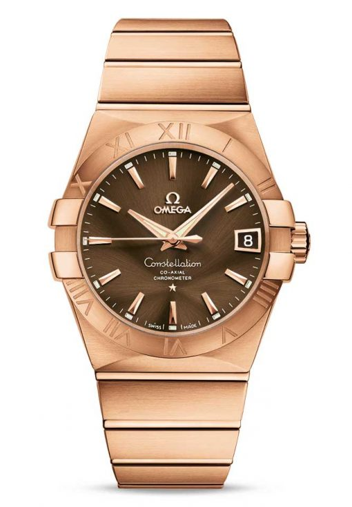Omega Constellation Co-Axial 18K Red Gold Unisex Watch, 123.50.38.21.13.001