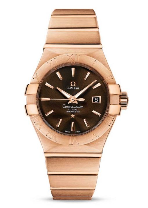 Omega Constellation Co-Axial 18K Red Gold Ladies Watch, 123.50.31.20.13.001