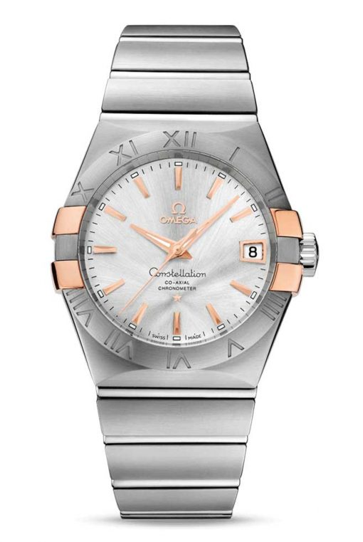 Omega Constellation Co-Axial 18K Red Gold & Stainless Steel Men's Watch, 123.20.38.21.02.004