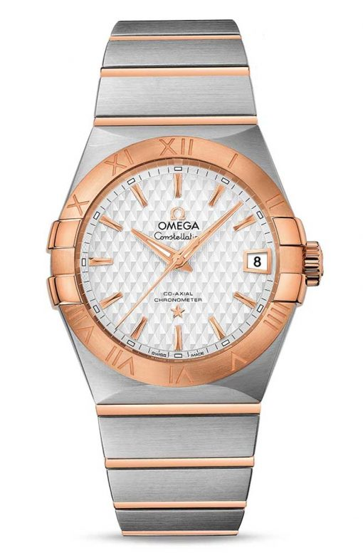Omega Constellation Co-Axial 18K Red Gold & Stainless Steel Men's Watch, 123.20.38.21.02.008