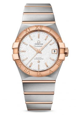 Omega Constellation Co-Axial 18K Red Gold & Stainless Steel Men's Watch 123.20.38.21.02.007