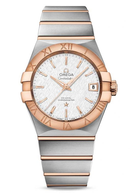 Omega Constellation Co-Axial 18K Red Gold & Stainless Steel Men's Watch, 123.20.38.21.02.007