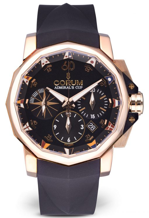 Corum Heritage Admirals Cup Chronograph 18K Rose Gold Men's  Watch, Preowned-01.0023