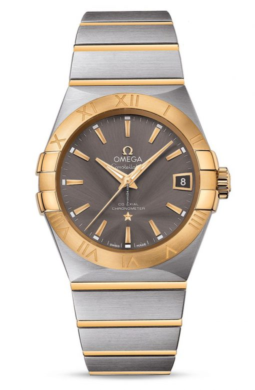 Omega Constellation Co-Axial 18K Yellow Gold & Stainless Steel Men's Watch, 123.20.38.21.06.001