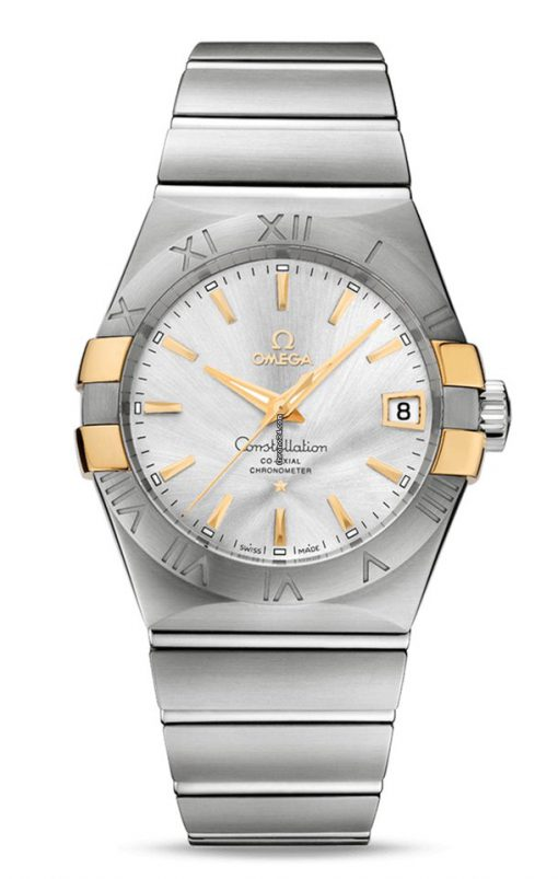 Omega Constellation Co-Axial 18K Yellow Gold & Stainless Steel Men's Watch, 123.20.38.21.02.005