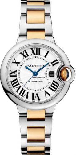 Cartier Ballon Bleu Stainless Steel & 18K Yellow Gold Ladies Watch W2BB0002