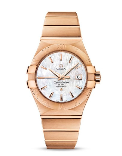 Omega Constellation Co-Axial 18K Red Gold Ladies Watch, 123.50.31.20.05.001