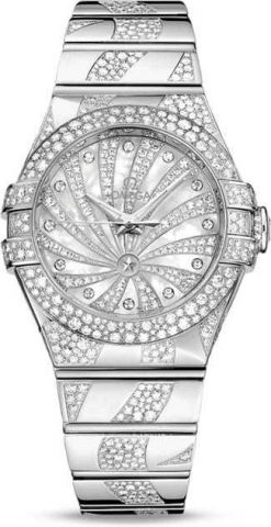 Omega Constellation Co-Axial 18K White Gold & Diamonds Ladies Watch 123.55.31.20.55.009