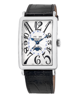 Franck Muller Long Island Master Calendar 18K White Gold Men's Watch preowned.1200-MC-L Silver
