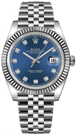 Rolex Oyster Perpetual Datejust 41 Stainless Steel & 18K White Gold & Diamonds… 126334-0016