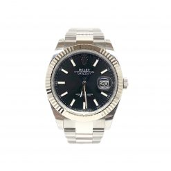 Rolex Oyster Perpetual Datejust 41 Stainless Steel & 18K White Gold Men's Watch 126334-0017