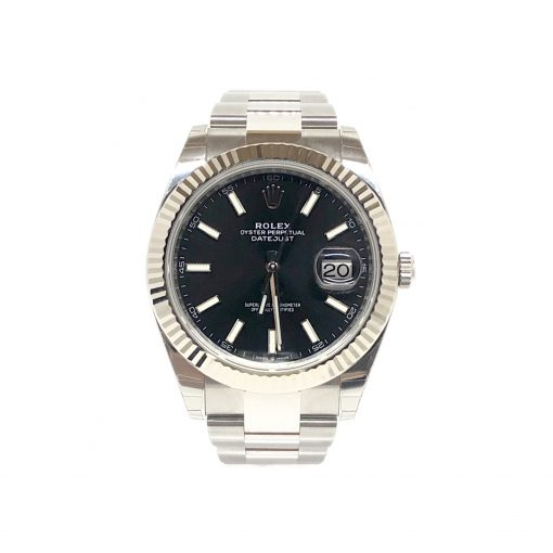 Rolex Oyster Perpetual Datejust 41 Stainless Steel & 18K White Gold Men's Watch, 126334-0017