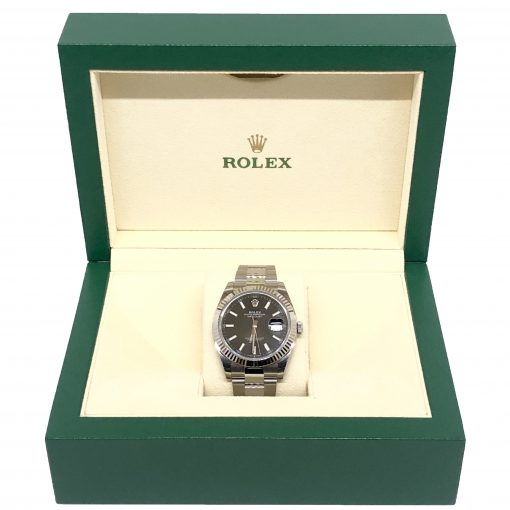 Rolex Oyster Perpetual Datejust 41 Stainless Steel & 18K White Gold Men's Watch, 126334-0017 4