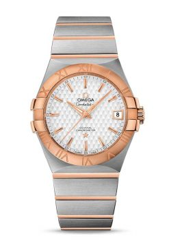 Omega Constellation Co-Axial 18K Red Gold & Stainless Steel Men's Watch 123.20.35.20.02.005