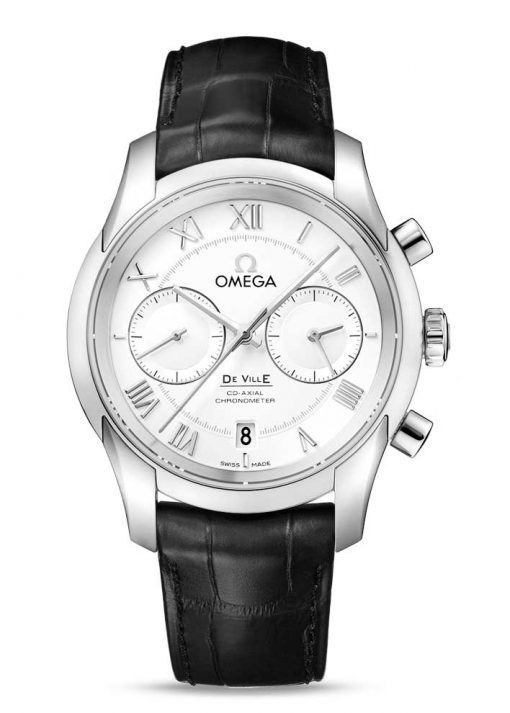 Omega De Vile Co-Axial Chronograph Stainless Steel Men's Watch, 431.13.42.51.02.001