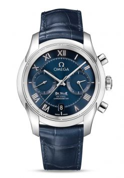 Omega De Vile Co-Axial Chronograph Stainless Steel Men's Watch 431.13.42.51.03.001