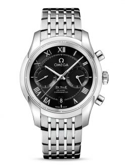 Omega De Vile Co-Axial Chronograph Stainless Steel Men's Watch 431.10.42.51.01.001